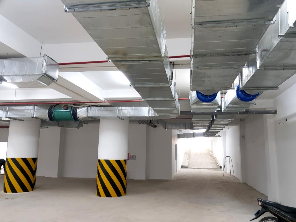 hệ thống thông gió tầng hầm