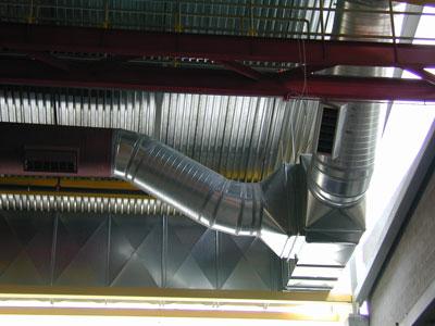 Vị trí lăp đặt của ống gió lượn tròn